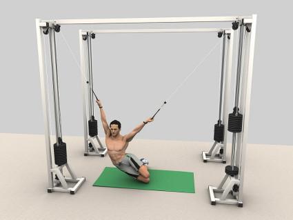 Упражнения на тренажёре