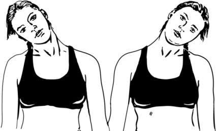 Сразу же после появления боли в области шеи, следует выполнить 10-20 поворотов или наклонов головы