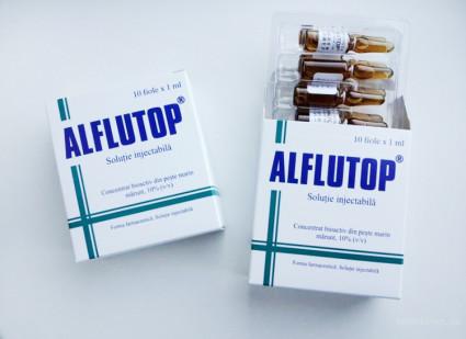 Алфлутоп снимает болевые ощущения очень быстро