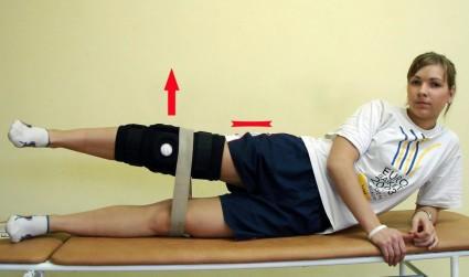 Полезно совершать мах ногой, где была проведена операция