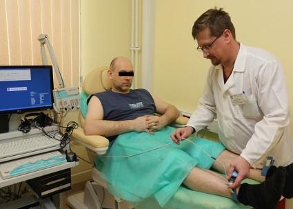 ЭМГ позволяет диагностировать и определять стадию нарушения функции периферических нервов