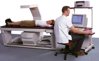 Процедура исследования плотности кости
