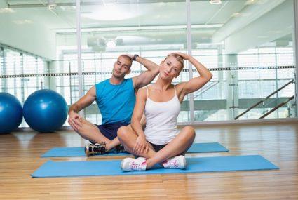 Лечение физкультурой укрепляет мышечный корсет