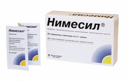 Нимесил обладает противовоспалительным и обезболивающим эффектом