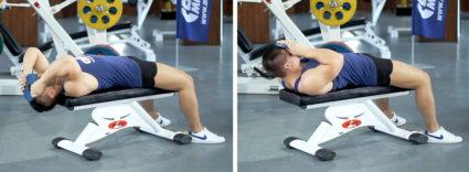 Наибольший эффект для шеи дает упражнение с блином на голове