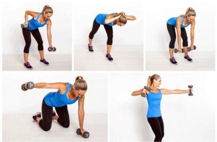 Упражнения для спины с гантелями в домашних условиях