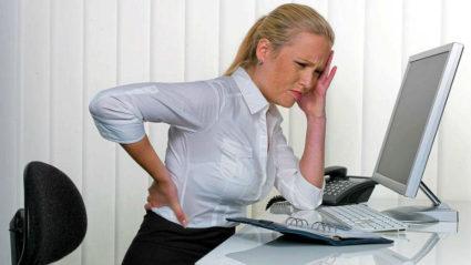 Раздражение нервных волокон, мышечное напряжение выражаются болью в пояснице слева