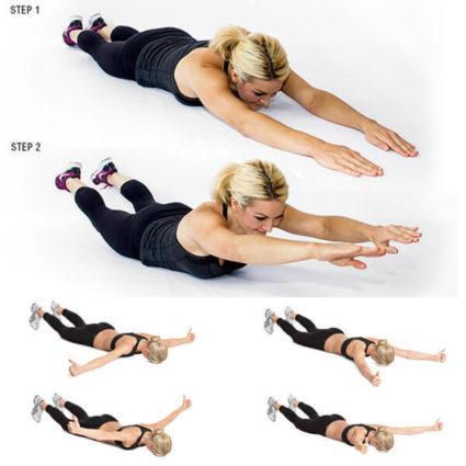 Упражнения для позвоночника и спины, изометрические занятия