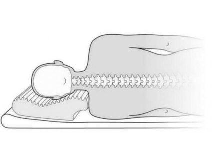 Расположение позвоночника во время сна