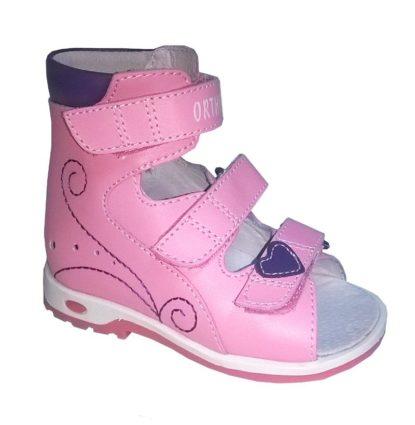 Детская ортопедическая обувь с высоким берцем и супинатором