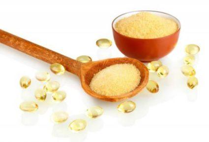 Источником коллагена вполне может выступить обычный пищевой желатин