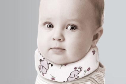 Воротник Шанца поможет,шея ребёнка придёт в норму