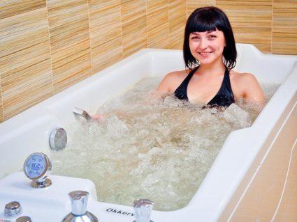 Прием ванны с минералами