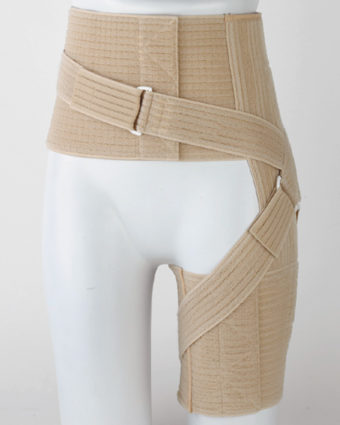 После травмы бедра нужно носить корсет